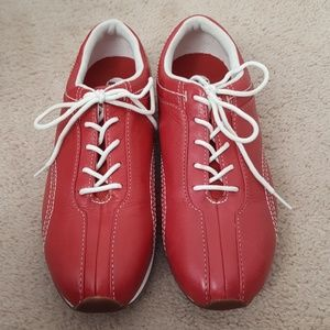 Timberland red white leather sneaker size 6.5 NEW